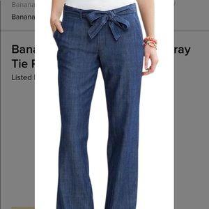 Banana Republic Chambray Pants size 4